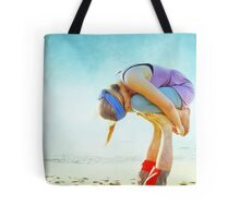 Elevated Child Pose  Tote Bag