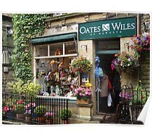 Shop window in Haworth Poster