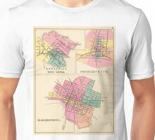 Vintage Map of Annapolis, Frederick and Hagerstown Unisex T-Shirt