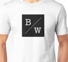 Simple Black and White Unisex T-Shirt