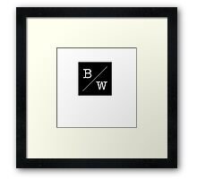 Simple Black and White Framed Print