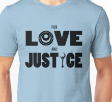 Sailor Moon - FOR LOVE AND JUSTICE (Dark on Light) Unisex T-Shirt