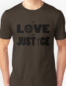 Sailor Moon - FOR LOVE AND JUSTICE (Dark on Light) T-Shirt
