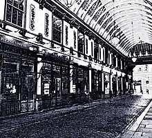 LeadenHall Market  London Charcoal Sketch by DavidHornchurch