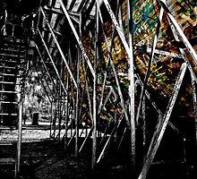 Vert ramp street art by Jesse de Rooy