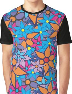 Retro Trendy Floral Pattern Graphic T-Shirt
