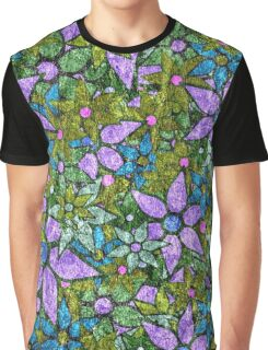 Vintage Trendy Floral Pattern Graphic T-Shirt