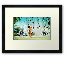 Elevated full lotus Framed Print