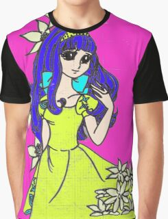 Girl With Lilies Graphic T-Shirt