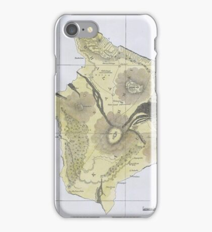 Vintage Map of Hawaii (1883) 2 iPhone Case/Skin