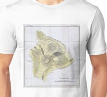 Vintage Map of Hawaii (1883) 2 Unisex T-Shirt