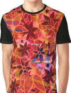 Abstract Art Retro Trendy Floral Pattern Graphic T-Shirt
