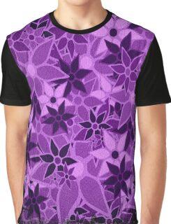 Purple Vintage Trendy Floral Pattern Graphic T-Shirt