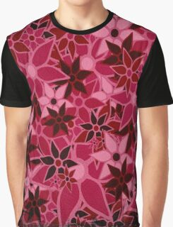 Red Vintage Trendy Floral Pattern Graphic T-Shirt