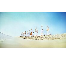 Yoga practice at the beach Photographic Print