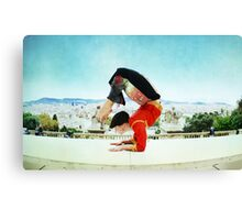 Scorpion with Barcelona views Canvas Print