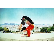 Scorpion with Barcelona views Photographic Print