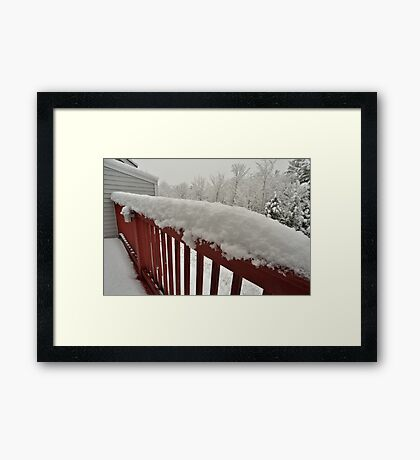First snow of the season comes to the New England Framed Print