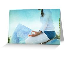 Chin Mudra, Woman Meditation Greeting Card