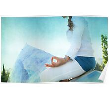 Chin Mudra, Woman Meditation Poster