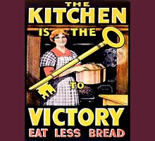 Kitchen is the Key to Victory Womens Fitted T-Shirt