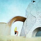 Yoga at Gaudi's Building 'La Pedrera', Barcelona by Wari Om  Yoga Photography