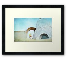 Yoga at Gaudi's Building 'La Pedrera', Barcelona Framed Print