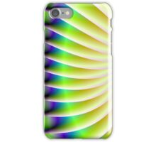Neon Fan in Yellow Green and Blue iPhone Case/Skin