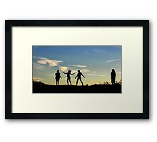 Driveway Dancing Framed Print