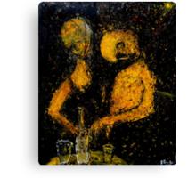 drunken couple Canvas Print