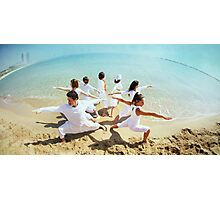 Group of Yoga Warriors Photographic Print
