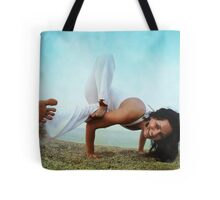 Balance and strengh Asana at the Beach Tote Bag
