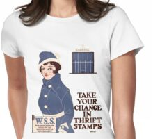 Take Your Change in Thrift Stamps Womens Fitted T-Shirt