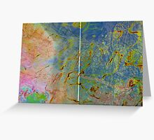 'Blue Abstract Diptych' Greeting Card