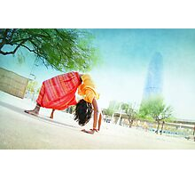 Colorfull Chakrasana  Photographic Print