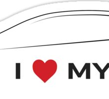 I Love My Hot Hatch (Light background) Sticker