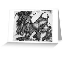 Minotaur Greeting Card