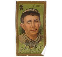 Benjamin K Edwards Collection John G Kling Chicago Cubs baseball card portrait Poster