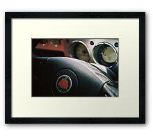 Steer & Speed Framed Print