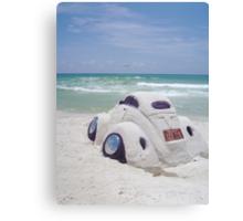 VW sand sculpture Canvas Print
