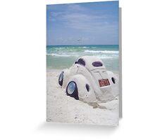 VW sand sculpture Greeting Card