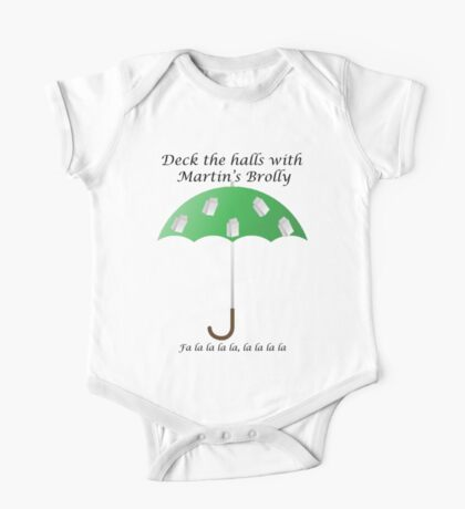 Deck the Halls with Martin's Brolly One Piece - Short Sleeve
