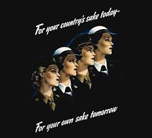 For Your Country's Sake Today Womens Fitted T-Shirt