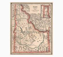 Vintage Map of Idaho (1883) Unisex T-Shirt