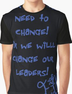 """Ejk - 15 years """" Our Leaders """" Graphic T-Shirt"""
