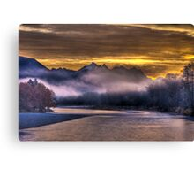 Skykomish River Sunrise Canvas Print