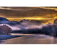 Skykomish River Sunrise Photographic Print