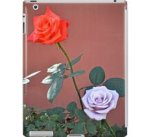 RED ROSE AND STERLING SILVER BLUE MOON ROSE iPad Case/Skin