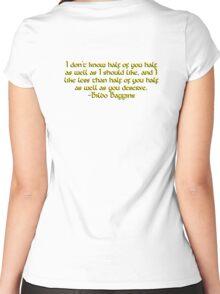 Bilbo's Speech Women's Fitted Scoop T-Shirt