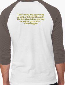 Bilbo's Speech Men's Baseball ¾ T-Shirt